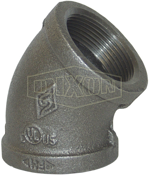 NPT Threaded 45° Threaded Elbow
