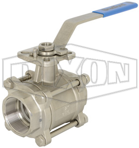 3 Piece Industrial Stainless Steel Ball Valve Socket Weld