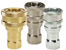 DQC H-Series ISO-B Poppet Valve Female Threaded Coupler