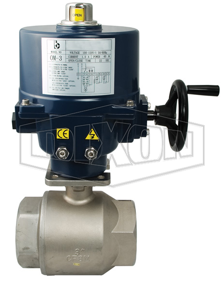 Electrically Actuated 2-Piece Stainless Ball Valve