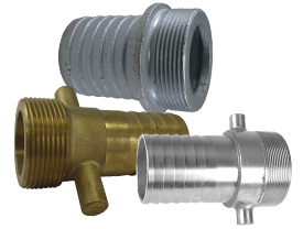 Male BSP Lugged Water Coupling with King Shank Serrated Tail