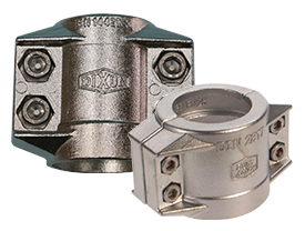 DIN Smooth Tail Clamp with Safety Collar