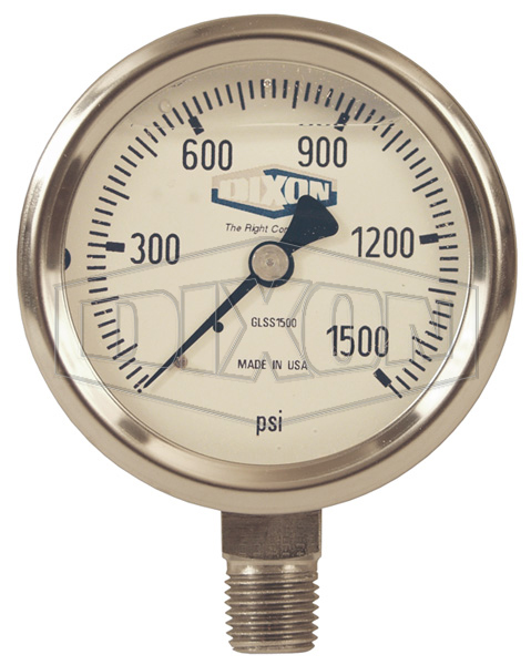 Stainless Liquid Filled Gauge Lower Mount