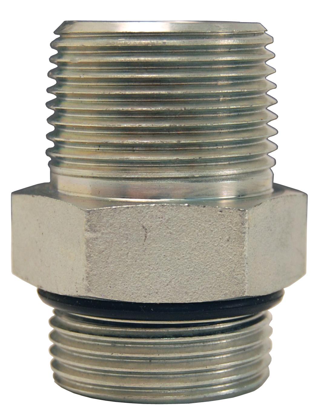 hydraulic fittings sae o-ring boss x male nptf adapters zinc plated steel