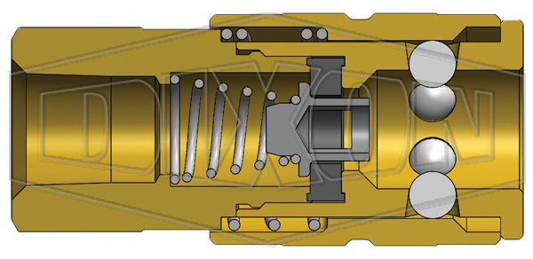f-series pneumatic manual female threaded coupler