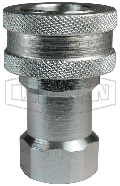 DQC H-Series ISO-B Steel Mill 'Slide Gate' Female Threaded Coupler
