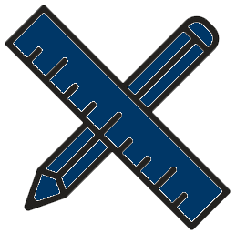 ruler icon blue